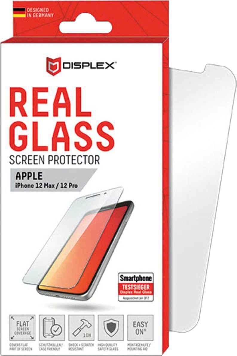 Displex »DISPLEX Real Glass Panzerglas für Apple iPhone 12/12 Pro (6,1), 10H Tempered Glass, mit Montagerahmen, 2D« für Apple iPhone 12 / 12 Pro, Displayschutzglas, 1 Stück
