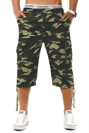 Max Men Cargoshorts »982« 3/4 Army Cargo Shorts Tarn Muster Bermuda lang Casual