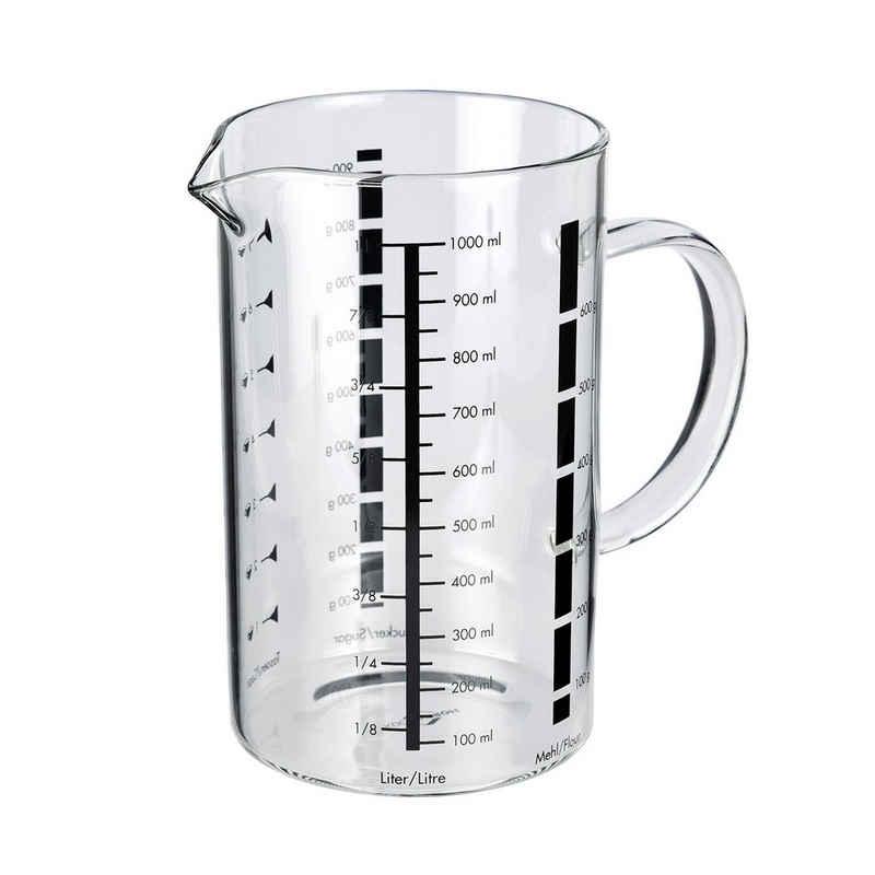 Küchenprofi Messbecher »Messbecher aus Glas«, Borosilikatglas, Messbecher