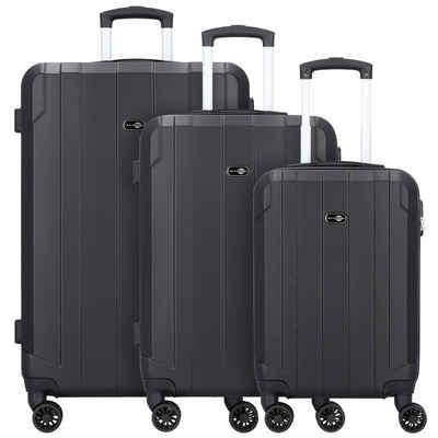Travel Pal Trolleyset »Brisbane 2.0«, 4 Rollen, (4-teilig, 4 tlg), ABS