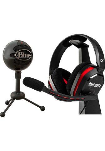 Blue Mikrofon »Snowball + A10 Ausinės Call ...