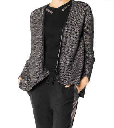 Pepe Jeans Outdoorjacke »Pepe Jeans Cardigan modische Damen Strick-Jacke mit Effektgarn Ausgeh-Jacke Schwarz«