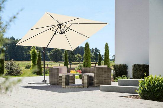Schneider Schirme Ampelschirm »Rhodos Junior«, LxB: 270x270 cm, mit Schutzhülle und Schirmständer, ohne Wegeplatten