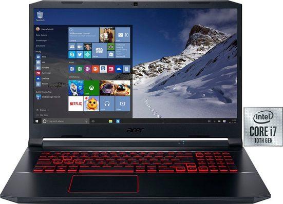 Acer Nitro 5 Notebook (43,94 cm/17,3 Zoll, Intel Core i7, GeForce GTX 1650 Ti, - GB HDD, 1000 GB SSD, inkl. Office-Anwendersoftware Microsoft 365 Single im Wert von 69 Euro)