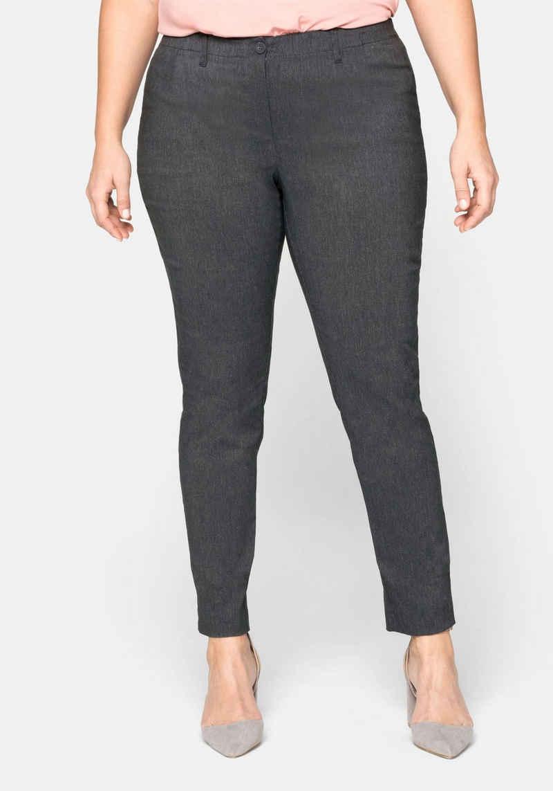 Sheego Anzughose, Stretch-Hose knitterarm und pflegeleicht