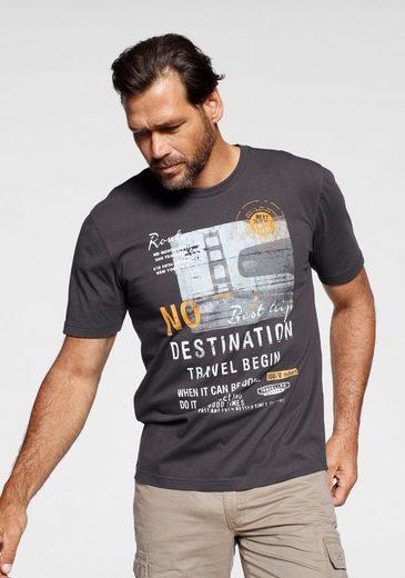 Man's World T-Shirt Mit großem Motivprint