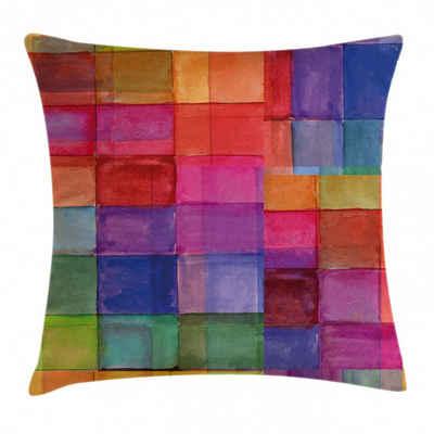Abakuhaus Kissenbezug »Waschbar mit Reißverschluss Kissenhülle mit Farbfesten Klaren Farben Beidseitiger Druck«, Abstrakt Regenbogen-Farben-Quadrate