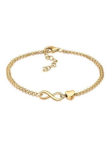 Elli Armband »Herz Unendlichkeit Infinity 925 Silber«