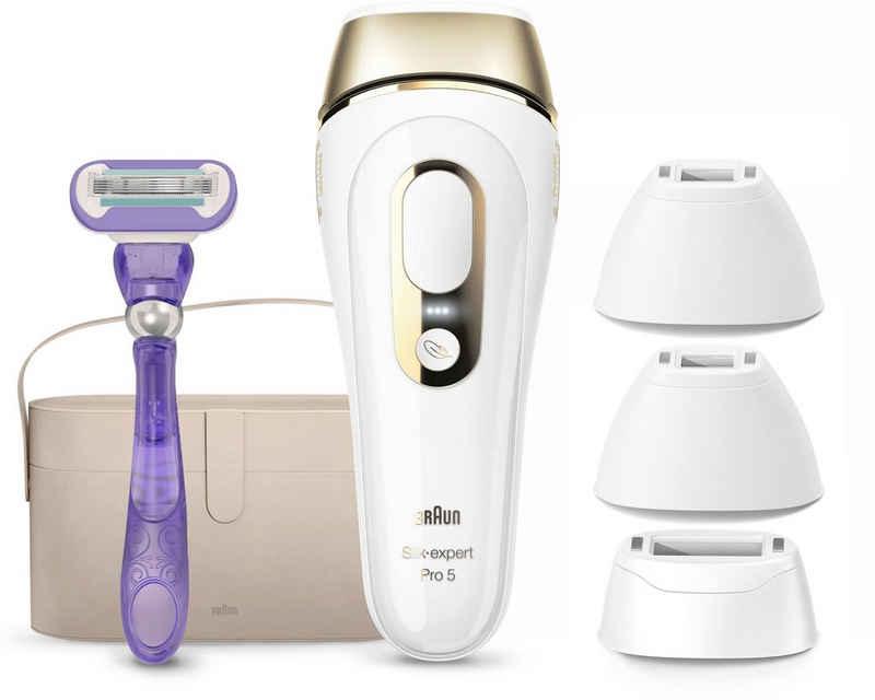 Braun IPL-Haarentferner Silk-expert Pro 5 PL5347, 400.000 Lichtimpulse, für dauerhaft sichtbare Haarentfernung für Damen und Herren
