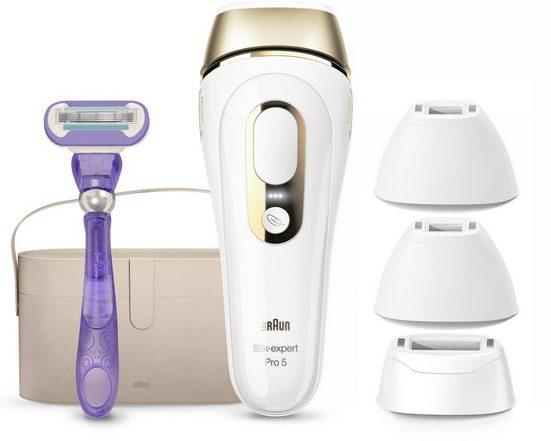 Braun IPL-Haarentferner Silk-expert Pro 5 PL5347, 400.000 Lichtimpulse, für Damen und Herren