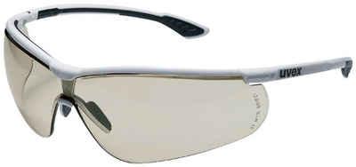 Uvex Arbeitsschutzbrille »uvex Schutzbrille sportstyle schw/weiß«