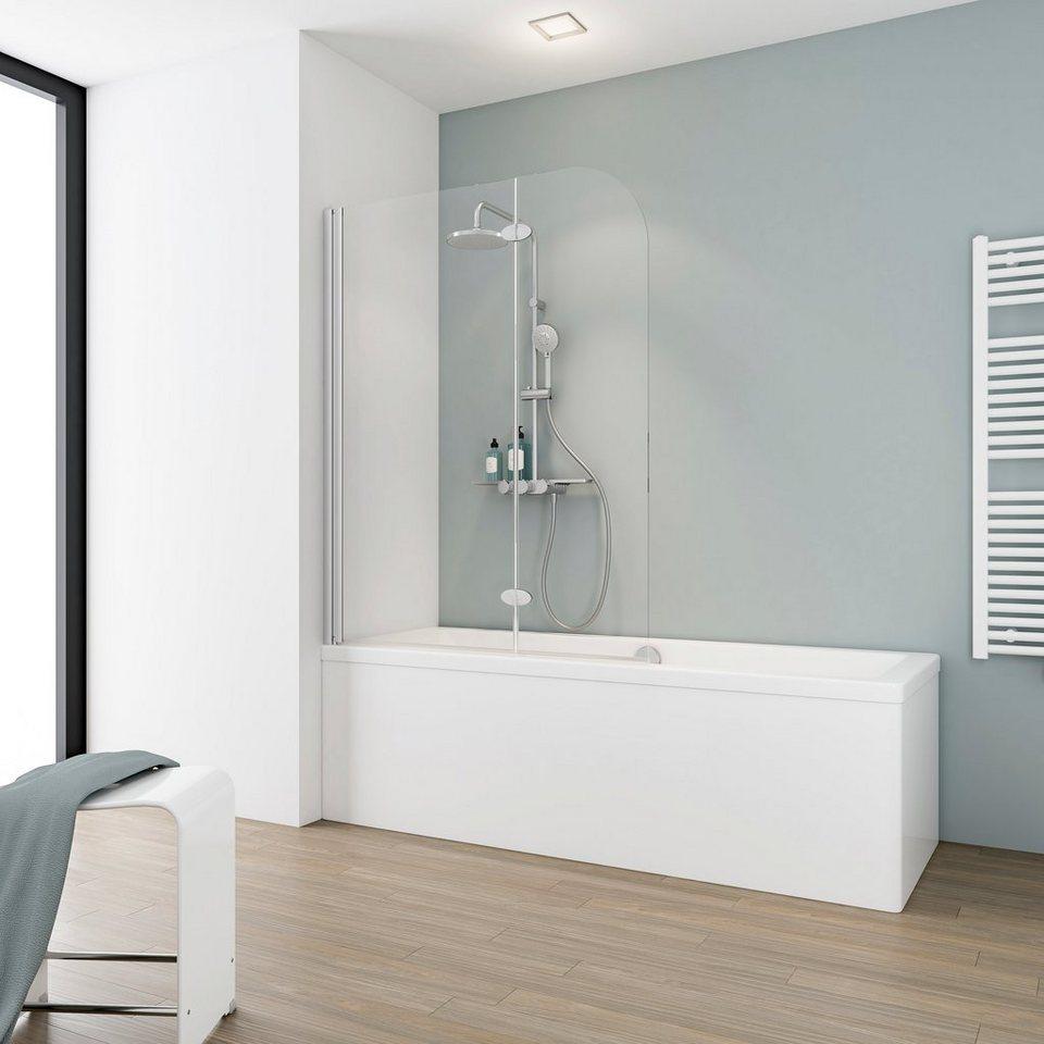 Schulte Badewannenaufsatz Einfach Ohne Bohren Einscheibensicherheitsglas 2 Tlg Bxh 112 X 140 Cm Online Kaufen Otto