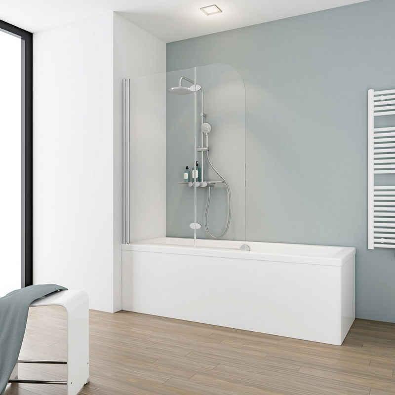 Schulte Badewannenaufsatz »Einfach ohne Bohren«, Einscheibensicherheitsglas, (2 tlg), BxH: 112 x 140 cm