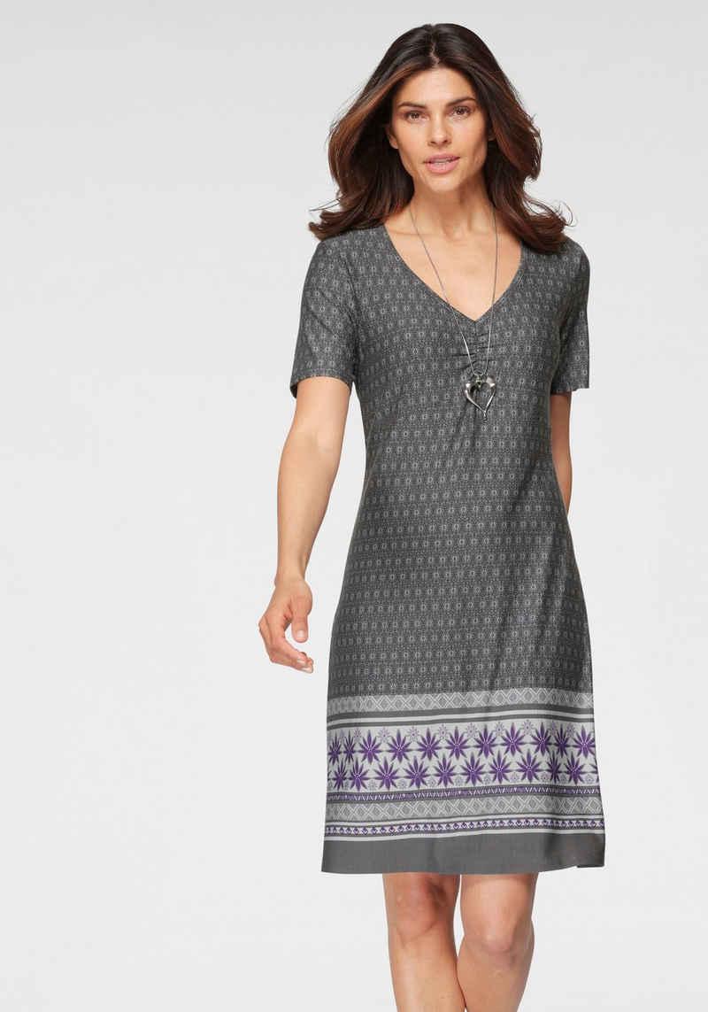 Boysen's Jerseykleid im Ethno-Stil