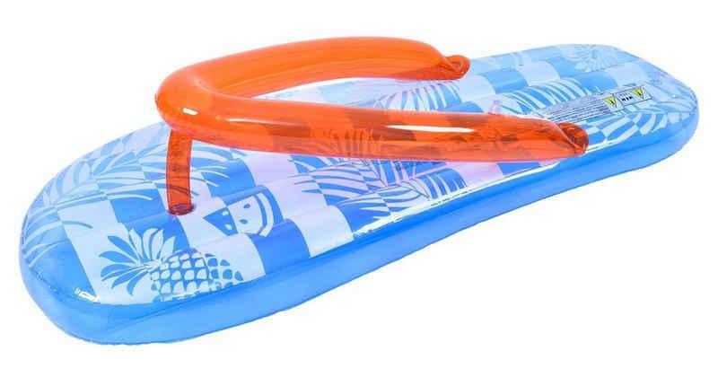 SunClub Luftmatratze »Schwimminsel Zehentrenner«, (Einzelpack, 166x67x42cm), im Zehentrenner Design