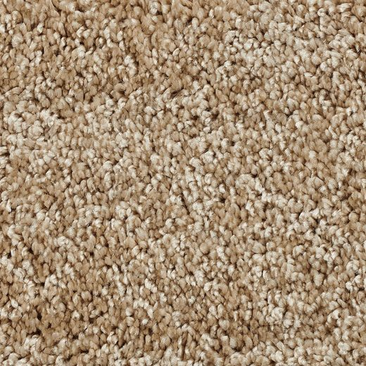 Teppichboden »Hochflor Velours«, Bodenmeister, rechteckig, Höhe 14 mm, Meterware, Breite 500 cm, uni, Wunschmaß