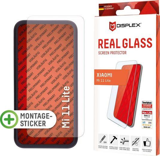 Displex »Real Glass für Xiaomi Mi 11 Lite (5G) (6,5), 2D« für Real Glass für Xiaomi Mi 11 Lite (5G), Displayschutzglas