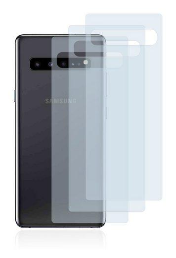 BROTECT Schutzfolie »Panzerglasfolie für Samsung Galaxy S10 5G (Rückseite)«, (3 Stück), Schutzglas Glasfolie klar