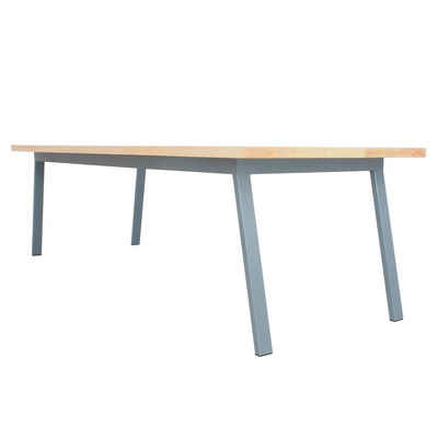 JOHANENLIES Esstisch »Upcycling Tisch VALKENBURG ASH«, Recyceltes Eschenholz und Stahl in Blaugrau. Nachhaltig. In Handarbeit gefertigt.