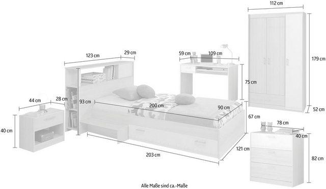 Komplettzimmer - Parisot Jugendzimmer Set »Charly«, (6 St)  - Onlineshop OTTO