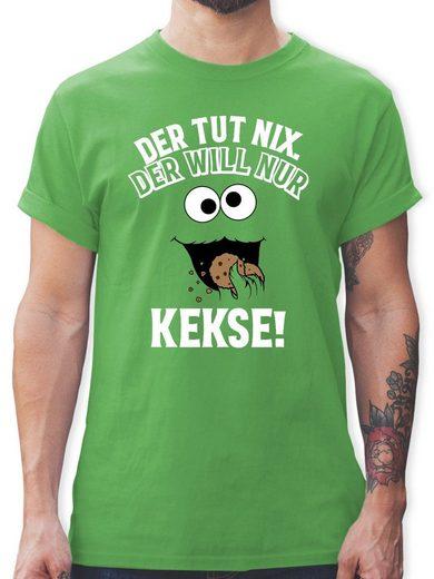 Shirtracer T-Shirt »Der tut nix. Der will nur Kekse! - weiß/schwarz - Herren Premium T-Shirt«