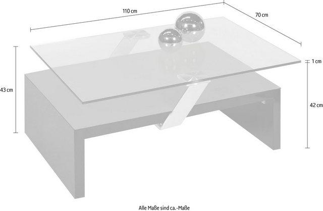 Wohnzimmertische - PRO Line Glastisch, rechteckig Platte mit Verschiebetechnik  - Onlineshop OTTO