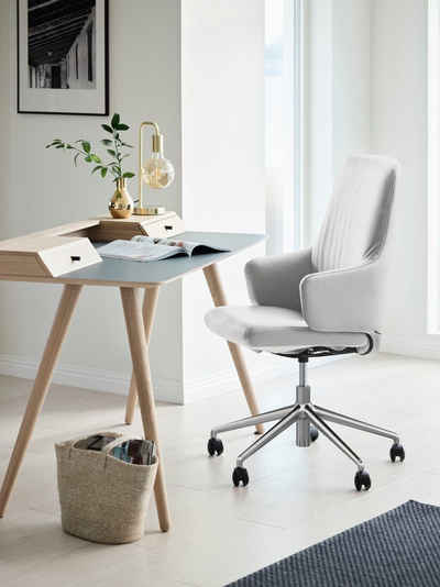 Stressless® Schreibtischstuhl »Laurel«, High Back mit Armlehne, Größe L, mit Home Office Gestell in Chrom glänzend