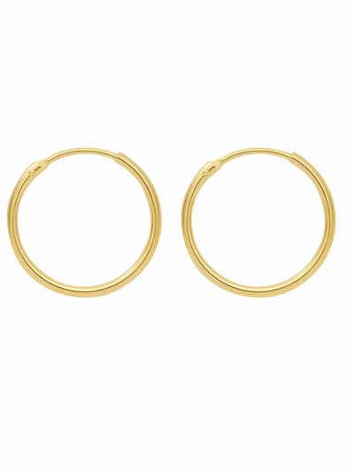 Adelia´s Paar Creolen »585 Gold Ohrringe / Creolen Ø 15 mm«, Goldschmuck für Damen