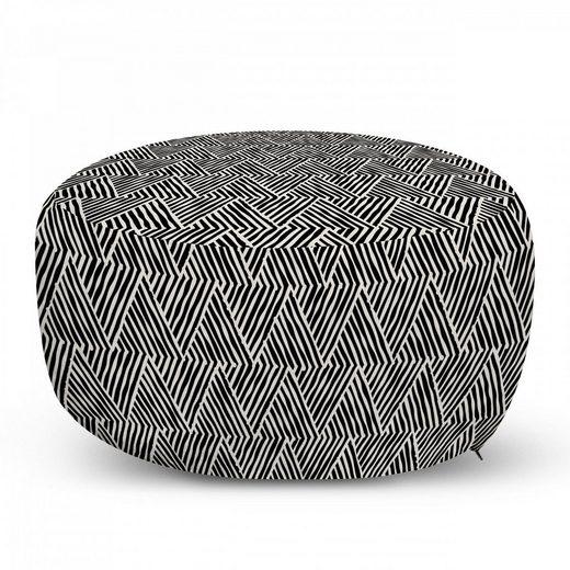 Abakuhaus Pouf »dekorative weiche Fußstütze und Reißverschlusshülle osmanisches Wohn-und Schlafzimmer«, Abstrakt Monotone Entwurf Triangles