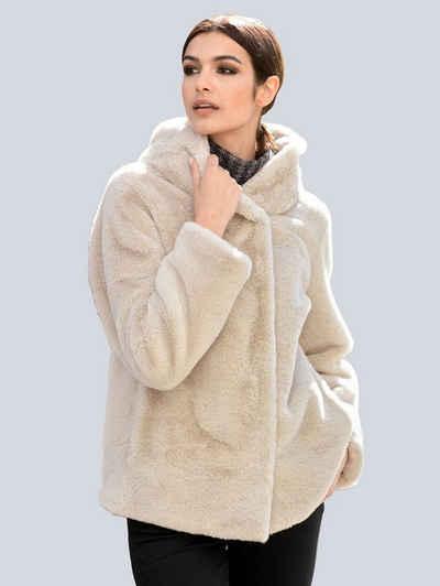 Alba Moda Winterjacke aus weichem Webpelz