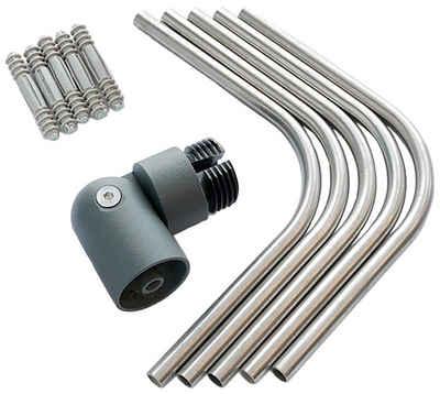 Dolle Eckverbinder, für für Geländer aus Aluminium in anthrazit, (5-St)