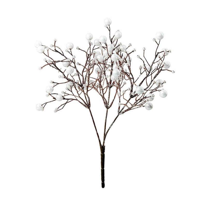 Kunstblume »WINTERGREEN Beerenzweig Länge 35cm«, BUTLERS, Höhe 0 cm