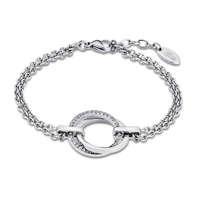 Lotus Style Edelstahlarmband »JLS1780-2-1 Lotus Style Armband silber LS1780-2/1« (Armband), Armbänder für Damen Edelstahl (Stainless Steel)