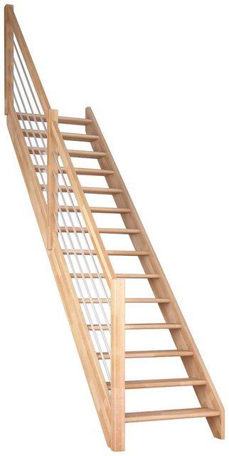 DOLLE Raumspartreppe »Paris«, offene Stufen, mit Edelstahlstäben, versch. Ausführungen | Baumarkt > Leitern und Treppen | Dolle