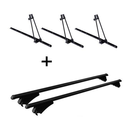 VDP Fahrradträger, 3x Fahrradträger ORION + Relingträger Tiger Stahl XL kompatibel mit Hyundai Tucson (TL) ab 2015