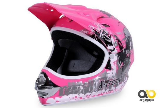 Actionbikes Motors Motocrosshelm »X-treme Pink«