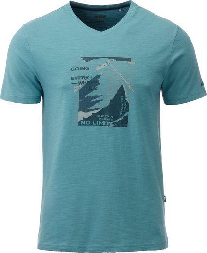 DEPROC Active T-Shirt »NAKIN MEN PRINT« Mit modischem Allover-Print