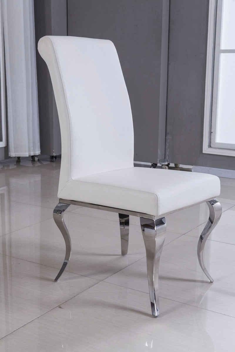 Leonique Hochlehner »Christy«, mit gebogenen Chromfüßen, in außergewöhnlichem Design