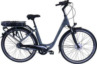 HAWK Bikes E-Bike »HAWK eCity Wave BAFANG«, 7 Gang Shimano Nexus 7G Schaltwerk, Frontmotor 250 W