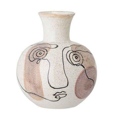 Bloomingville Dekovase »Bloomingville Vase Creme Weiß Gesicht 22 cm«