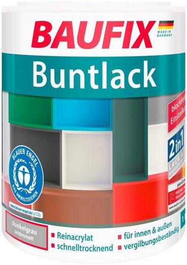 BAUFIX Acryl Buntlack seidenmatt dunkelgrau, 1 l