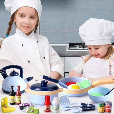 Wenta Spiel-Kochgeschirr »30PCS Kinderküche Kochgeschirr Küchen Spielzeug Zubehör, mit Töpfe und Pfannenset, Kinder Rollenspiel Spielzeug Set Lernspielzeug Geschenk für Mädchen Jungen ab 3 Jahren«