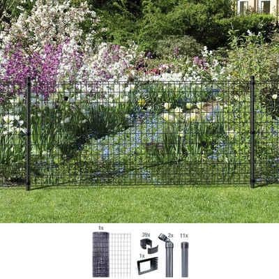GAH Alberts Schweissgitter »Fix-Clip Pro®«, (Set), 81 cm hoch, 25 m, anthrazit beschichtet, zum Einbetonieren