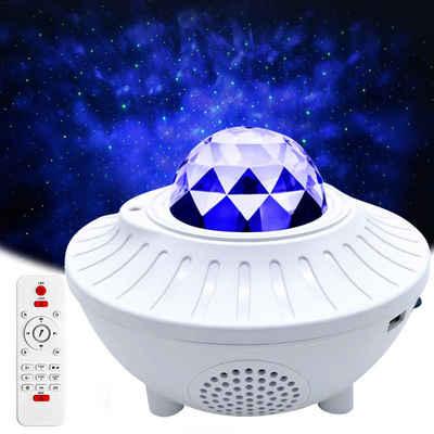 Rosnek LED Nachtlicht »LED Sternenhimmel Projektor, Starry Mond, Bluetooth Musikplayer, USB, mit Fernbedienung,Geschenke für Kinder«, LED-Projektionslicht