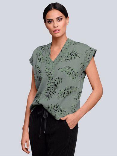 Alba Moda V-Ausschnitt-Pullover im exklusiven Alba Moda Print