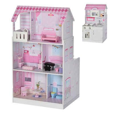 HOMCOM Puppenhaus »Puppenhaus und Spielküche«