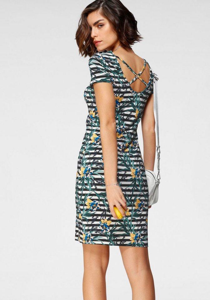 tamaris -  Jerseykleid in tollem Print mit Rückenschnürung - NEUE KOLLEKTION