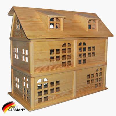 Madera Spielzeuge Puppenhaus »Puppenhaus aus Kiefern Holz,6 Zimmer«, Made in Germany . Fertig verleimtes Puppenhaus, extrem Stabil.