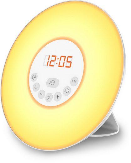 B.K.Licht LED Nachttischlampe, LED Lichtwecker Wake up mit Sonnenaufgangsfunktion