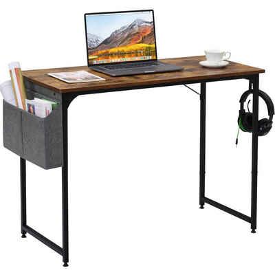 Merax Schreibtisch, Computertisch PC Tisch Officetisch Arbeitstisch für Büro Industriestil Stabil